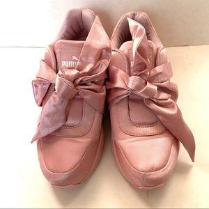 Puma Fenty by Rihanna pink bow sneakers